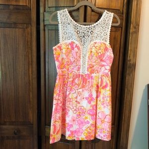 Lilly Pulitzer Pink and Yellow Dress